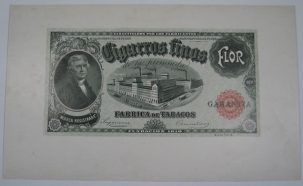 Other Collectibles C. 1900 THOMAS JEFFERSON CIGAR BOX LABEL PROOF AU+