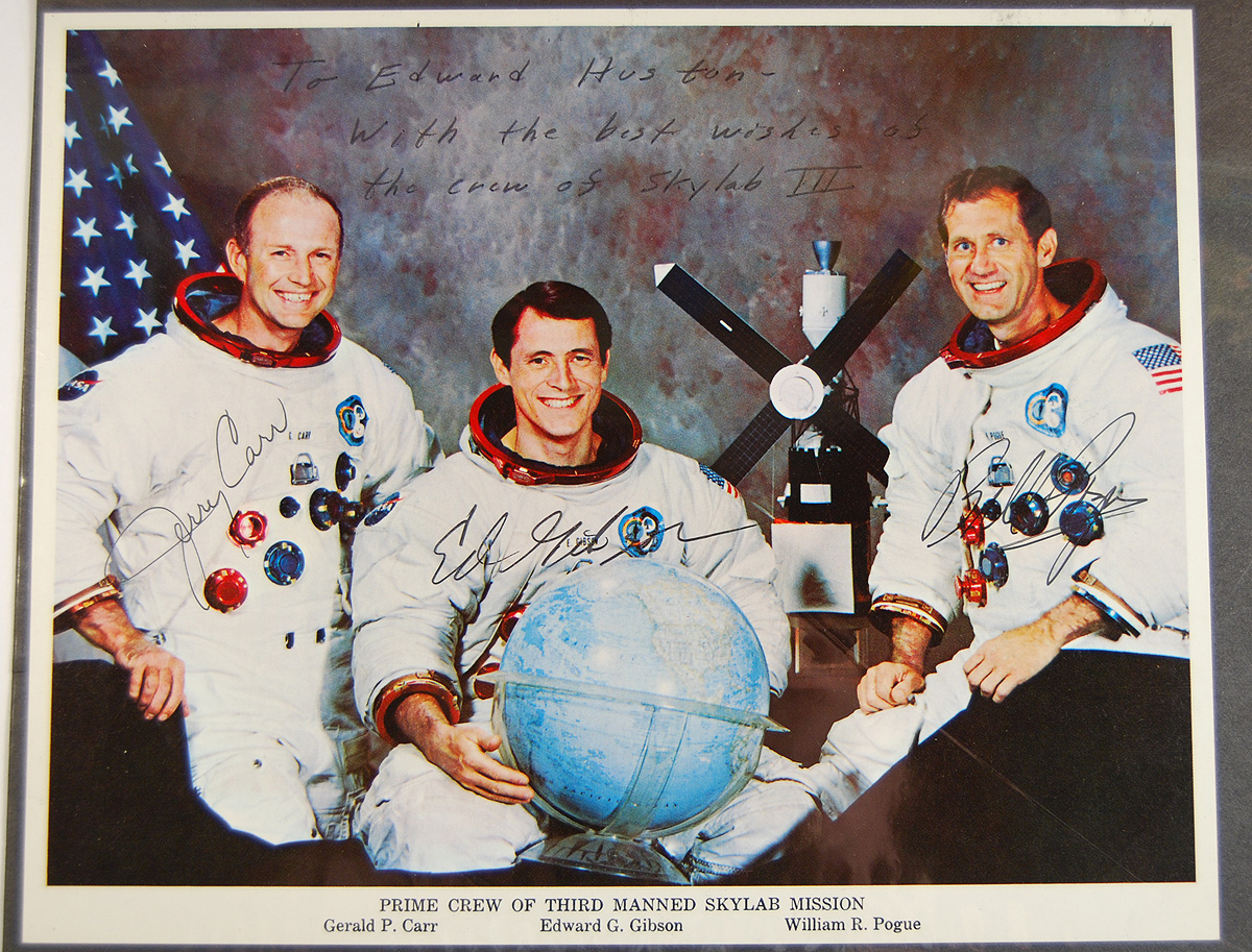 Other Collectibles 1973 SKYLAB 4 8X10 ORIGINAL SIGNED SPACE PHOTO-CARR, GIBSON & POGUE EXC/MINT