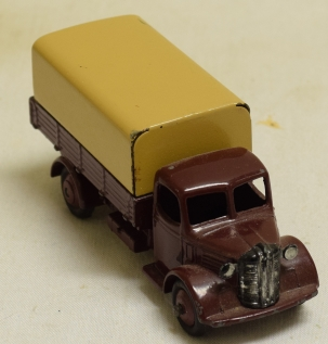 Dinky 1950 DINKY #30S AUSTIN COVERED WAGON, MAROON/CREAM CAT $150 EXC+ CONDITION
