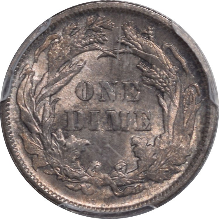 Liberty Seated Dimes 1891 LIBERTY SEATED DIME PCGS MS-65