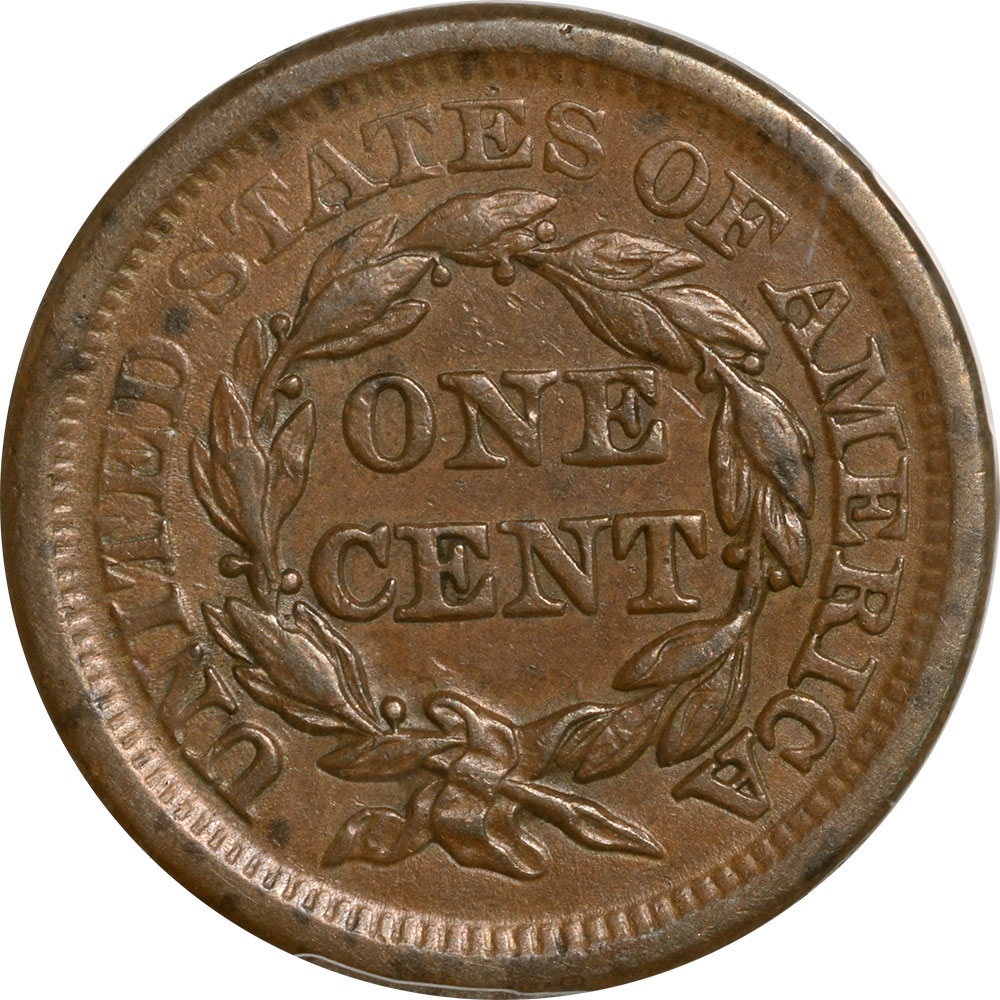 Braided Hair Large Cents 1857 BRAIDED HAIR CENT – LARGE DATE PCGS AU-55