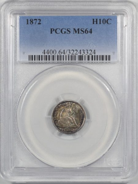 Coin World/Numismatic News Featured Coins 1872 LIBERTY SEATED HALF DIME PCGS MS-64