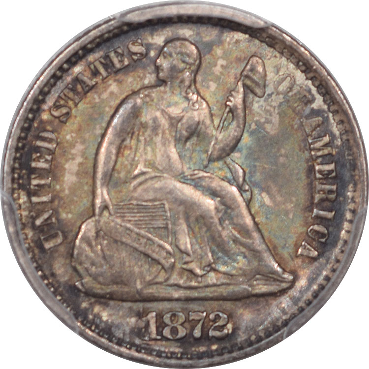 Liberty Seated Half Dimes 1872 LIBERTY SEATED HALF DIME PCGS MS-64