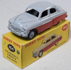 "Other Collectibles DINKY #164 VAUXHALL CRESTA SALOON, GREEN/GREY W/ ""CORRECT"" RED OVERSPRAY-EXC/BOX"