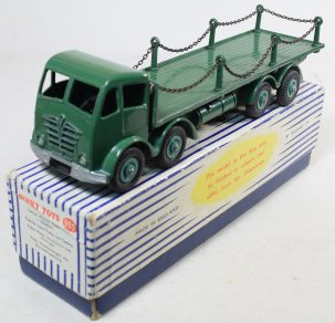 Other Collectibles DINKY #905 FODEN FLAT TRUCK, CHAIN LORRY, GREEN, MINT MODEL W/ EXC ORIGINAL BOX