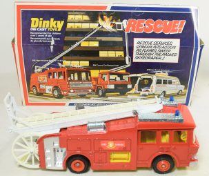 Other Collectibles DINKY E.R.F. FIRE TENDER; BRAND NEW MODEL IN A RATHER FATIGUED WINDOW BOX