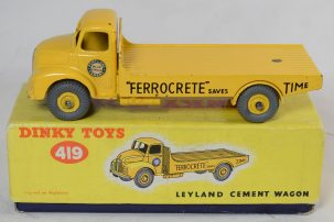 Other Collectibles DINKY #419 LEYLAND CEMENT WAGON, EXC MODEL W/ BRIGHT & EXC ORIGINAL PICTURE BOX
