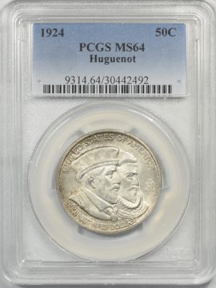 1924-HUGUENOT50c-PCGS-MS64-492-1