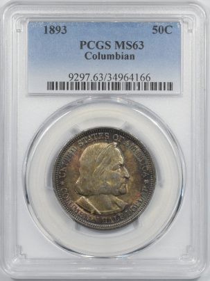 1893-COLUMBIAN50c-PCGS-MS63-166-1