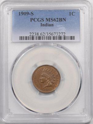 1909s-1C-PCGS-MS62BN-272-1