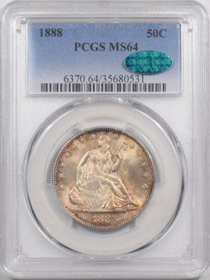 1888-50C-PCGS-MS64-CAC-531-1