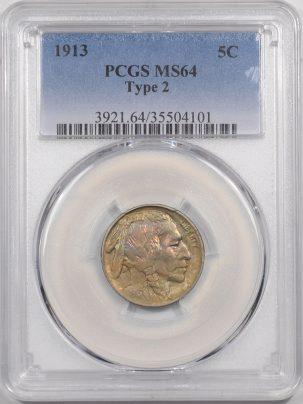 1913-TYII-5C-PCGS-MS64-101-1