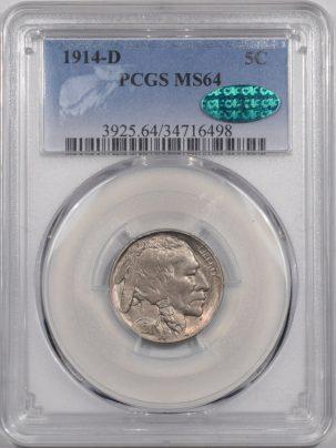 1914d-5C-PCGS-MS64-CAC-498-1