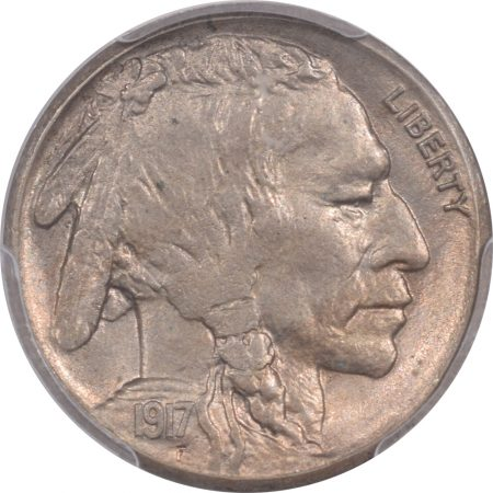 Buffalo Nickels 1917-S BUFFALO NICKEL PCGS MS-63 PREMIUM QUALITY! CAC APPROVED!