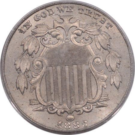 Shield Nickels 1883 SHIELD NICKEL PCGS MS-64 PREMIUM QUALITY!