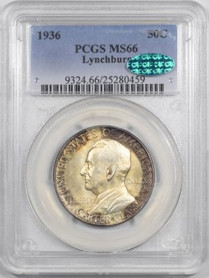 1936-LYNCHBURG50C-PCGS-MS66-CAC-459-1