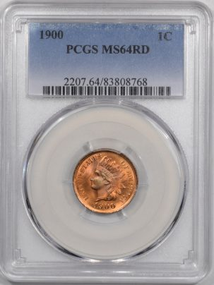 Coin World/Numismatic News Featured Coins 1900 INDIAN CENT PCGS MS-64 RD PREMIUM QUALITY! BLAZER!