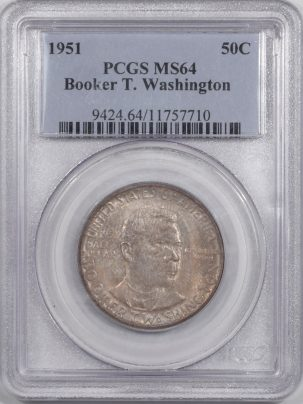 Silver 1951 BTW COMMEMORATIVE HALF DOLLAR PCGS MS-64