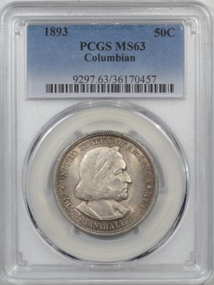 1893-COLUMBIAN50C-PCGS-MS63-457-1