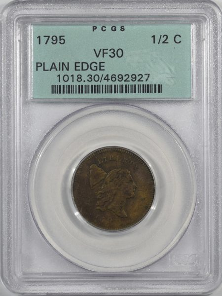 1795-H1C-PLAIN-EDGE-PCGS-VF30-927-1