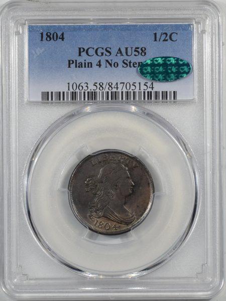1804-H1C-PLAIN4-NOSTEMS-PCGS-AU58-CAC-154-1