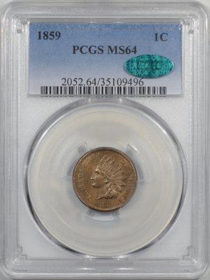 1859-1C-PCGS-MS64-CAC-496-1