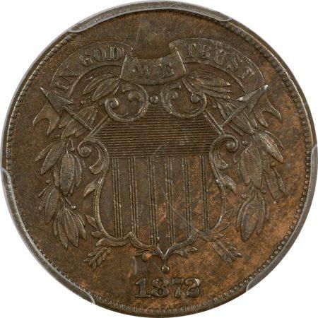 Two Cent Pieces 1872 TWO CENT PIECE PCGS AU-53
