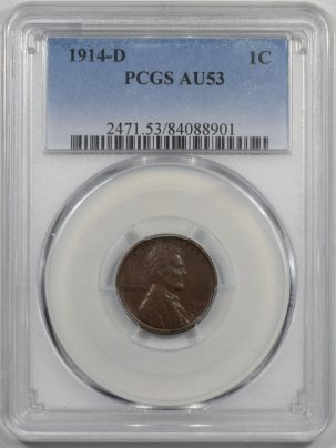 1914d-1C-PCGS-AU53-901-1