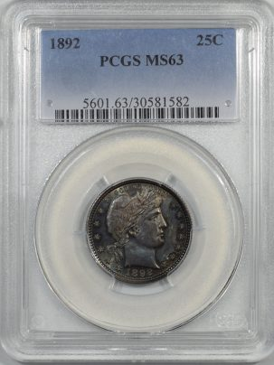 1892-25C-PCGS-MS63-582-1