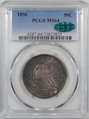 1856-50C-PCGS-MS64-CAC-825-1