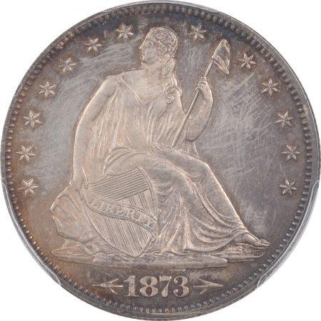 Liberty Seated Halves 1873 PROOF SEATED LIBERTY HALF DOLLAR – ARROWS PCGS PR-64