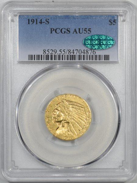 1914s-5G-PCGS-AU55-CAC-876-1