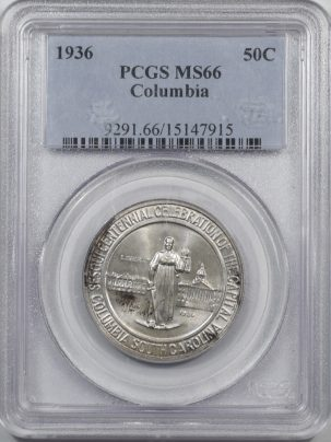 1936-COLUMBIA-50C-PCGS-MS66-915-1
