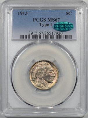 1913-TYI-5C-PCGS-MS67-CAC-920-1