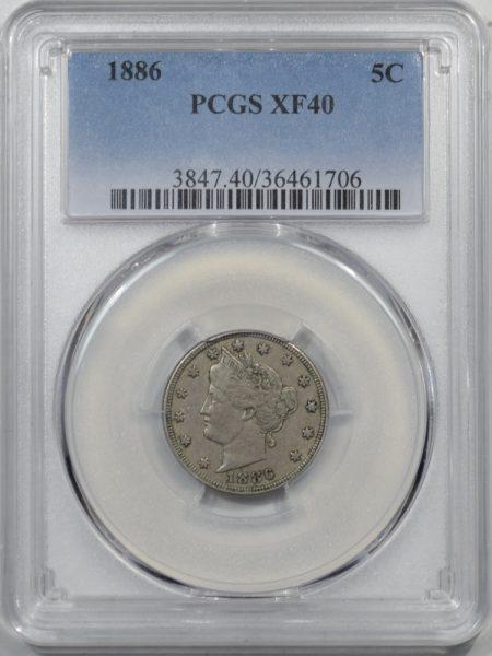 1886-5C-PCGS-XF40-706-1