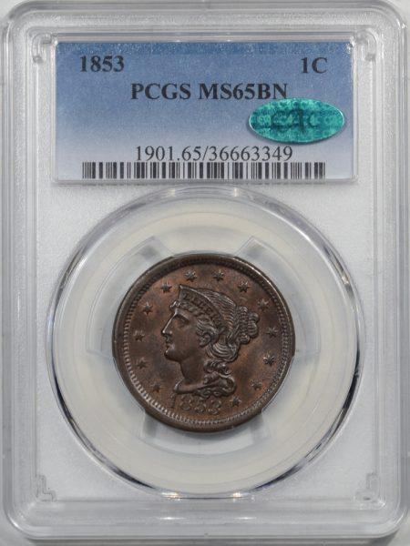 1853-1C-PCGS-MS65BN-CAC-349-1