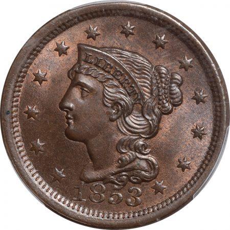 1853-1C-PCGS-MS65BN-CAC-349-2