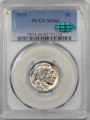 1925-5C-PCGS-MS66-CAC-236-1