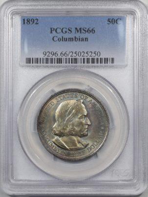 1892-COLUMBIAN-50C-PCGS-MS66-250-1
