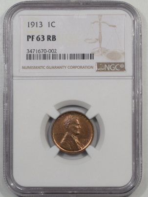 Coin World/Numismatic News Featured Coins 1913 PROOF LINCOLN CENT NGC PF-63 RB
