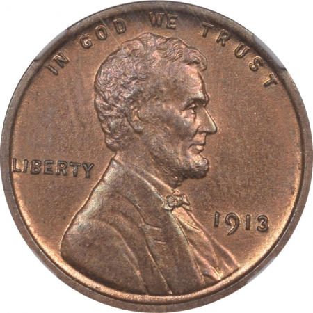 Lincoln Cents (Wheat) 1913 PROOF LINCOLN CENT NGC PF-63 RB