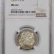 CAC Approved Coins 1875 LIBERTY SEATED DIME NGC MS-65 CAC APPROVED!