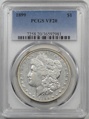 Morgan Dollars 1899 MORGAN DOLLAR PCGS VF-20