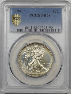 Coin World/Numismatic News Featured Coins 1941 PROOF WALKING LIBERTY HALF DOLLAR PCGS PR-68