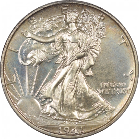 Walking Liberty Halves 1941 PROOF WALKING LIBERTY HALF DOLLAR PCGS PR-68