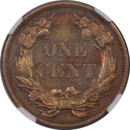 Coin World/Numismatic News Featured Coins 1856 PROOF FLYING EAGLE CENT NGC PF-50 COLOR PRETTY!