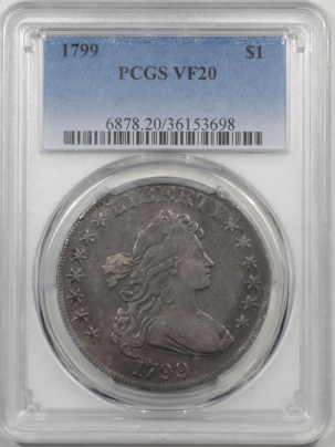 Coin World/Numismatic News Featured Coins 1799 DRAPED BUST DOLLAR PCGS VF-20