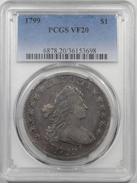 Early Dollars 1799 DRAPED BUST DOLLAR PCGS VF-20