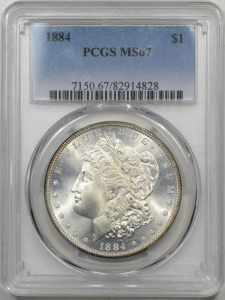 Morgan Dollars 1884 MORGAN DOLLAR PCGS MS-67