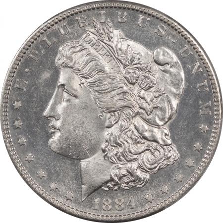 Morgan Dollars 1884-S MORGAN DOLLAR PCGS MS-61, PROOFLIKE LOOKING OBVERSE